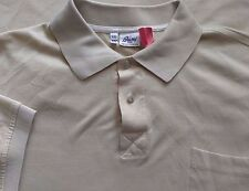 Brioni Neiman Marcus Italy Polo Shirt Tan Short Sleeve Mens 2XL XXL (A821b-B6)