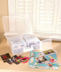 Photo-Storage-Box-for-1600-Pictures-Clear-Organizer-Acid-Free-Cases-Keeper-Pics