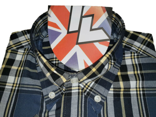 Warrior UK England Button Down Shirt LIP-UP Slim-Fit Skinhead Mod Retro