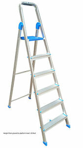 Aluminium ladder 6 steps (5 step + 1 platform) by JEYES Brand. Assured Quality.