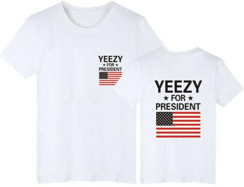 Herren Kanye West T-Shirt Yeezus God Tour Tops for President Tee Shirt Pablo