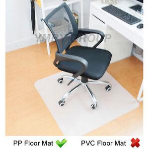 pp hard floor protector chair mat home office chair mat 75 90 120 150cm l ebay. Black Bedroom Furniture Sets. Home Design Ideas