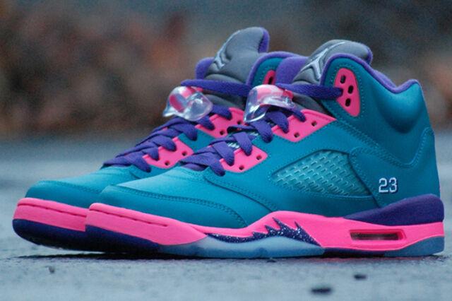Air Jordan 5 V Girls Retro Tropical (GS) 440892-307 iv 11 concord gamma oreo