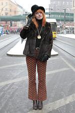Saga Mink señora visón chaqueta fur hopka Jacket marrón Brown 80er True vintage 80´s