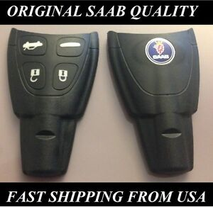 Saab-9-3-KEY-FOB-SAAB-ORIGINAL-FACTORY-QUALITY-WITH-EMBLEM-Remote-Key-shell