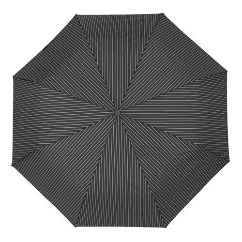 Fulton Chelsea-2 City Stripe Automatic Folding Umbrella Black Wood Handle