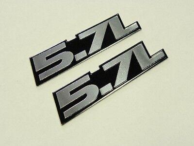 2 DODGE RAM DURANGO V8 HEMI ENGINE 5.7L BADGE EMBLEMS
