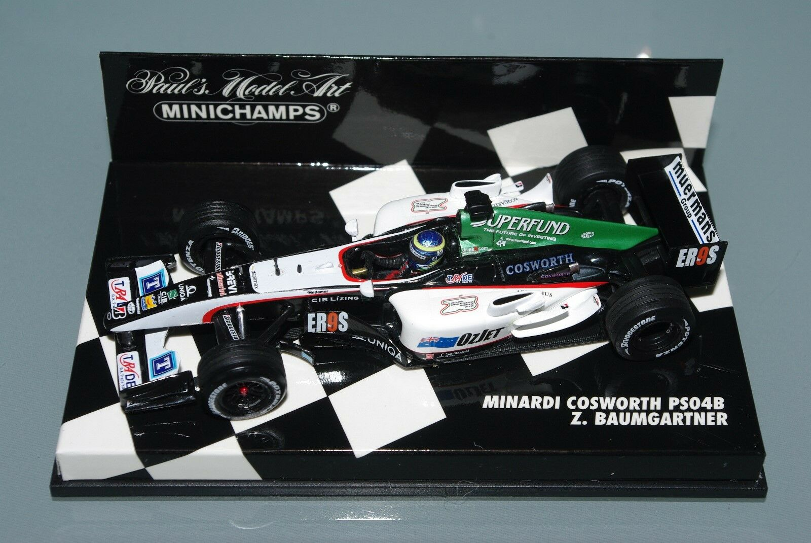 Minichamps F1 1 43 MINARDI COSWORTH PS04B - Z. BAUMGARTNER
