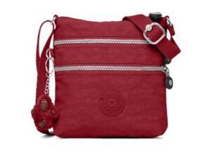Details about Kipling Alvar XS Mini Scarlet Red Nylon Cross body Purse Bag Gorilla Keyring NWT