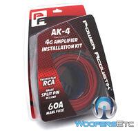 Power Acoustik Ak-4 4 Gauge Amplifier Complete Installation Kit Twisted Rca Jack on sale