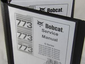 bobcat 773g skid steer loader service manual turbo book form 6900834 rh ebay com bobcat 773 repair manual bobcat 773 service manual pdf