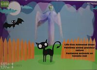 Halloween Gemmy 6 Ft Life Size Animated Lighted Talking Ghost Reaper