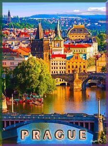 Czechoslovakia Czech Republic Europe European Advertisement Travel Art Poster
