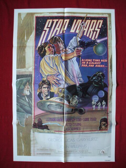 STAR WARS *1977 ORIGINAL MOVIE POSTER 1SH STYLE D DARTH VADER FORCE AWAKENS NM-M