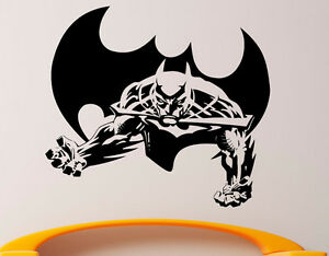 Image Is Loading Batman Wall Vinyl Decal Superhero Sticker DC Comics