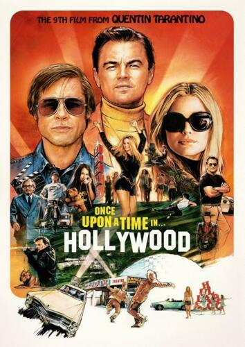 ONCE UPON A TIME IN HOLLYWOOD BB2 POSTER ART PRINT A4 A3 A2 A1 A0 SIZES