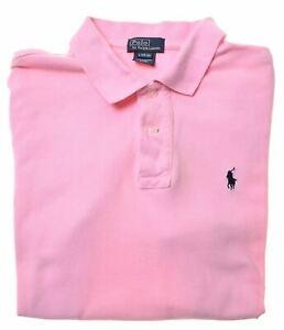 POLO-RALPH-LAUREN-Boys-Polo-Shirt-15-16-Years-Large-Pink-Cotton-IQ10