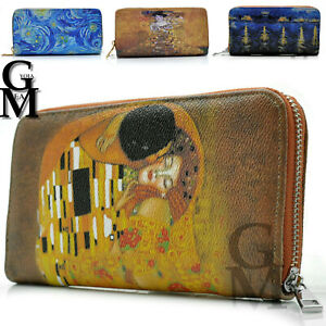 Gyoiamea Portafoglio donna fantasia Klimt vincent van ghog il bacio dipinto arte