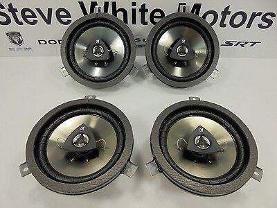 "04-15 Chrysler Dodge Jeep New Kicker Speakers 6.5"" Rear Door Set of 4 Mopar Oem"