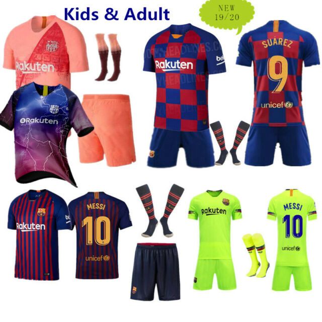 2018-2019 Football Kits Soccer Suits Kids Jersey Strip Sports Outfit Socks