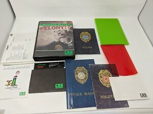 Vintage-Apple-ii-2-Computer-Game-Felony-Complete-in-box-CIB-CBS-Software