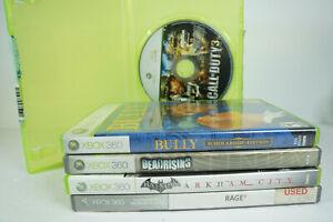 5-Xbox-360-Games-Bully-Dead-Rising-Batman-Arkham-Rage-Call-of-Duty-3-Bundle-Lot