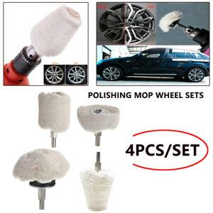 4pcs Car Motorcycle Polishing Buffing Pads Mop Wheel Kit Set for Drill Rotary