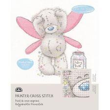 DMC Me to You Tatty Teddy Printed Cross Stitch Fabric Kit - Fairy Dust