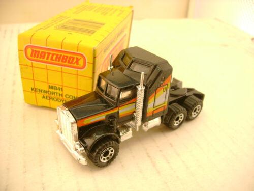 1981 MATCHBOX SUPERFAST #41 Schwarz Kenworth AERODYNE Lkw Neu MIB