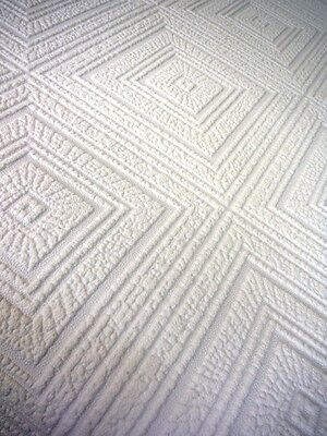 As Creation Big Squares Wallpaper White Blown Vinyl Thick Paintable 6640 13 Ebay