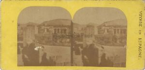 Spagna Grenade Granada Foto Stereo Vintage Albumina Ca 1870
