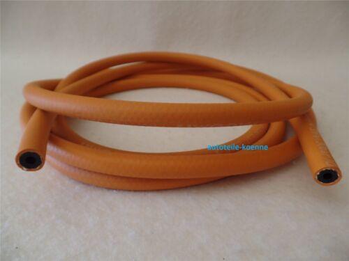 10bar 4 Meter Propangasschlauch Ø 6x3,5 mm orange Mitteldruck DIN 4815 max
