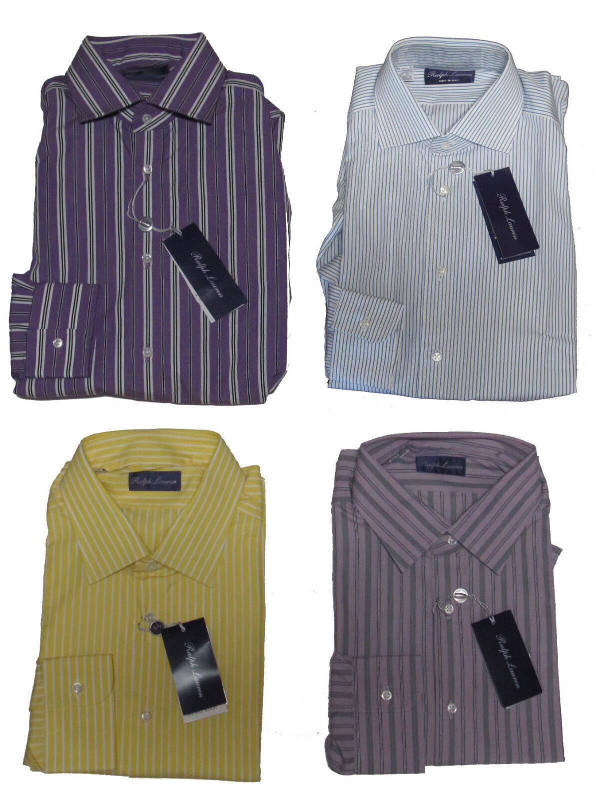 Ralph Lauren lila Label   Herren Striped Button Down Sport Dress Shirt New
