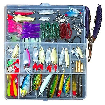 5PCS night fishing Fish Glow spoon Popper Crankbaits Minnow Lure box hook baits
