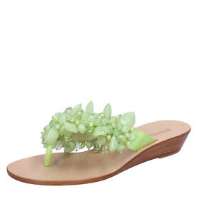 886d6fad6ee womens shoes EDDY DANIELE 4 (EU 37) sandals green textile beads AX942-37
