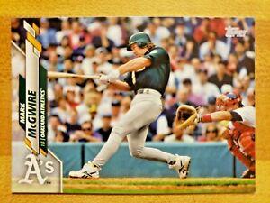 2020-Topps-Series-1-SP-Photo-Image-Variation-Mark-McGwire-289-Oakland-Athletics