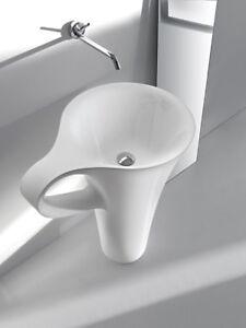 Lavabo Central Salle De Bain Lave Mains Modele Cup En Ceramique Ebay
