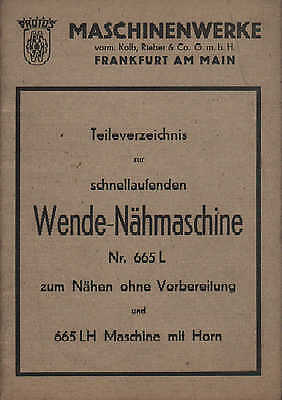 FRANKFURT/M., Katalog, Kolb Rieber &Co Protos Schuh-Maschinen 665 L Näh-Maschine