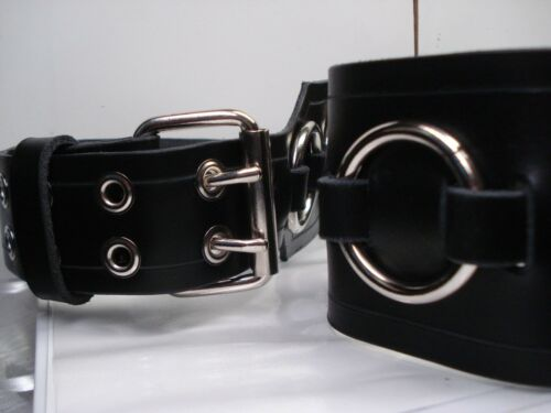 MDLS0341 OLD SCHOOL RINGED PLAIN LEATHER GUITAR STRAP BUCKLE UP ... ... DAGON
