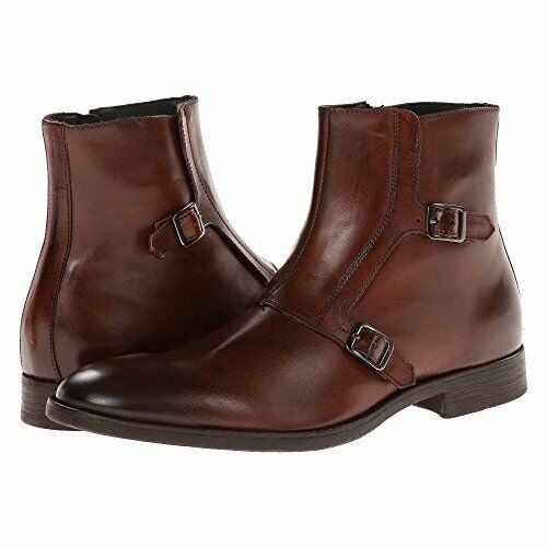 Handmade Men Brown boots, Men Double monk ankle boots, Men real leather boots