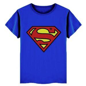 Détails Sur Kid Boy Superman T Shirt Super Héros Dessin Animé Summer Shirts Tops à Manches Courtes Tee Afficher Le Titre Dorigine