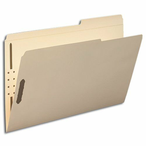 Smead 19587 Manila Fastener File Folders With Reinforced Tab - Legal - 8.50  X
