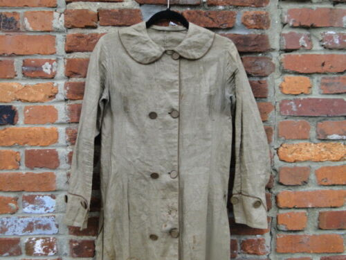 Vintage rare 1890S Double Breasted Coat  Linen Jac