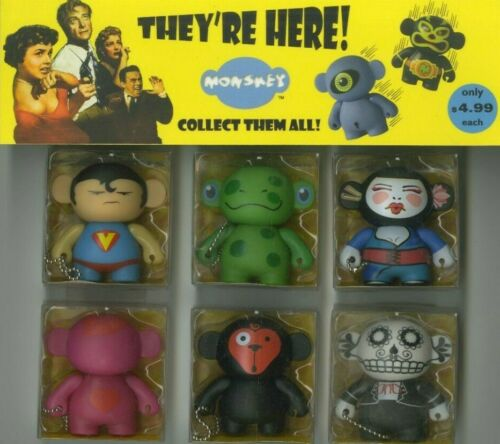 set C - Monskey Set of 6 Edgy Cute PVC figurines from China