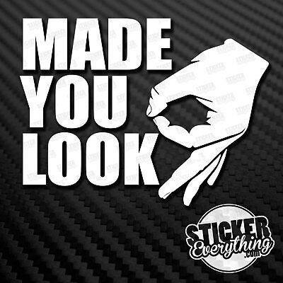 """Hand Made You Look Looked Pepe iFunny MEME Funny 4/"""" Vinyl Decal Sticker JDM"""