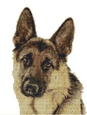CROSS STITCH KIT - GERMAN SHEPHERD 14CM X 20CM
