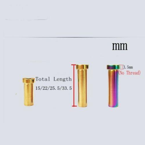 Titanium Ti Recessed Bike Bicycle Brake Bolt Nut 15mm//22mm//25.5mm//33.5mm 1pcs