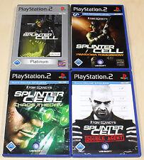 4 PLAYSTATION 2 PS2 SPIELE SAMMLUNG TOM CLANCY'S SPLINTER CELL CHAOS PANDORA