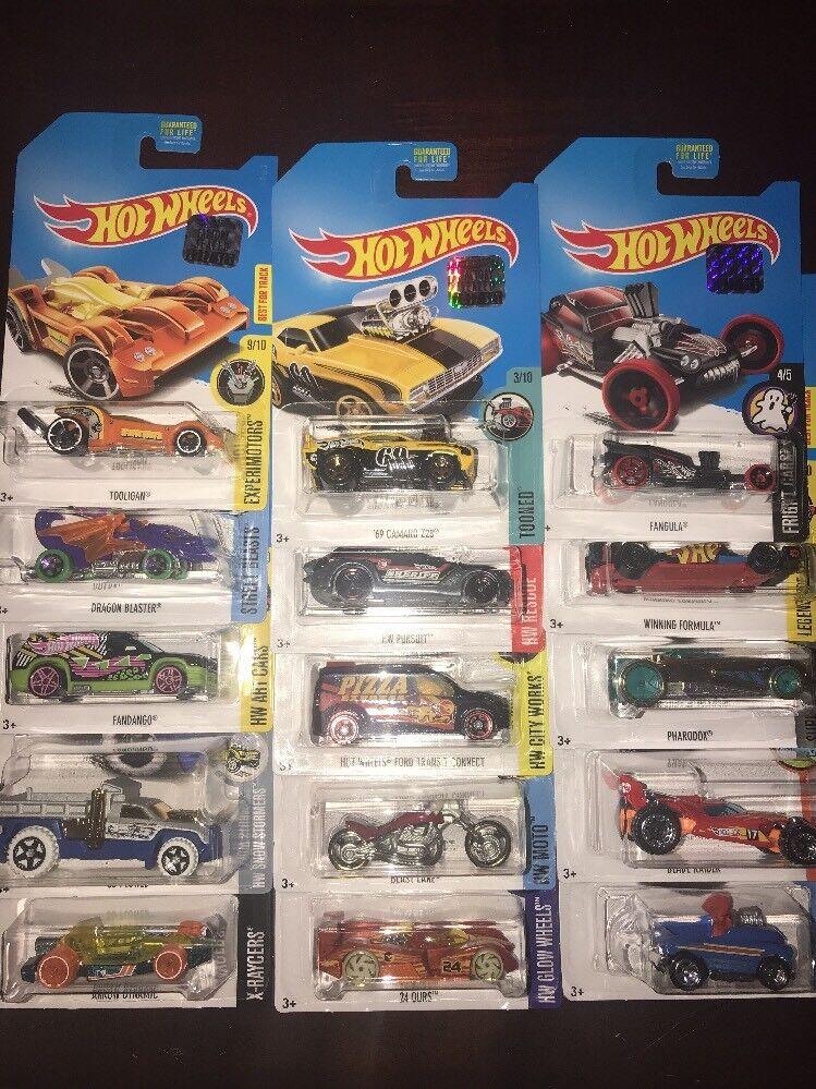 2017 Hot Wheels Treasure Hunt Regular conjunto completo de 15 conjunto principal de fábrica
