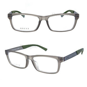 21a15c6821b25 GUCCI GG 1057 F CTG Asian Fit Gray Transparent 54 16 145 Eyeglasses ...